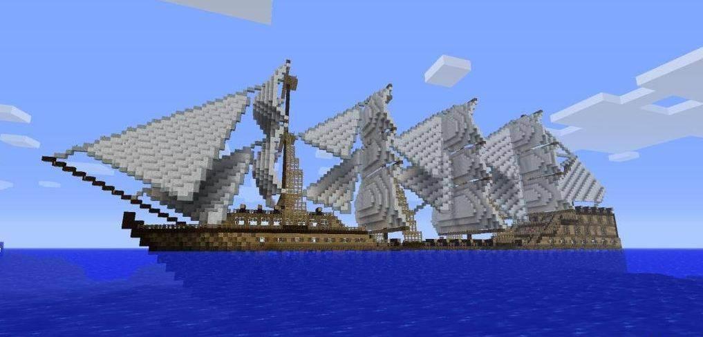 мод для майнкрафт на корабли и замки #9